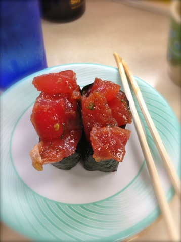 ahi poke sushi