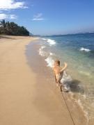 beach frolick