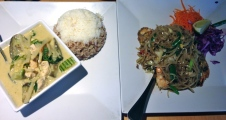 green curry and drunken noodles